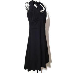 Banana Republic black halter neck polyester dress